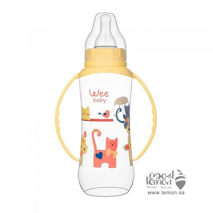 رضاعه وي بيبي بلاستيكية سعة 270 مل للاطفال من 6 - 18 شهر