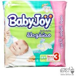 حفاضات اطفال بيبي جوي عبوة التوفير الكبير رقم3 وسط 84 فوطة
