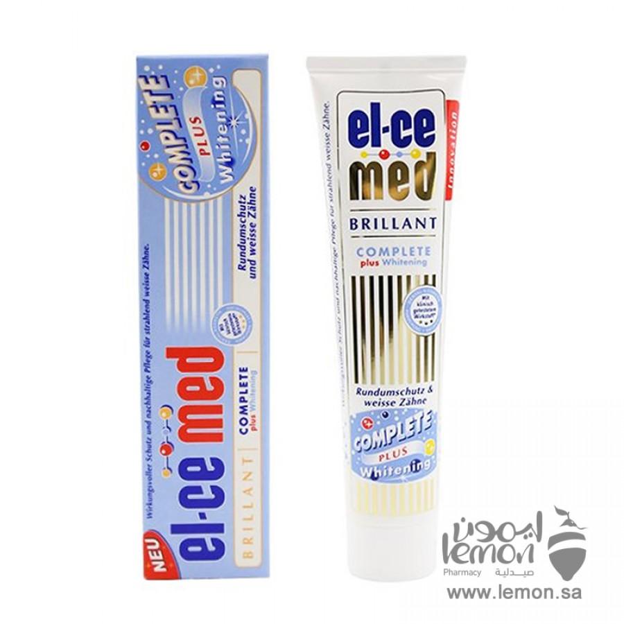 معجون اسنان السيميد كومبليت بلس يعمل على تنظيف الاسنان ومنع التسوس وعلاج التهاب اللثة وتبييض الاسنان وازالة الجير والبلاك