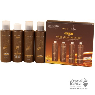 موهير مجموعة بروتين تنعيم  الشعر التالف والمتقصف 4*120مل