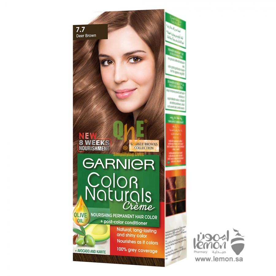 صبغات شعر بني غزالي غارنييه لون رقم 7.7 Garnier Deer Brown Hair Color