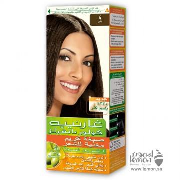 صبغات غارنييه درجات البني رقم 4 4 Garnier Color Naturals 4 Brown Hair Color