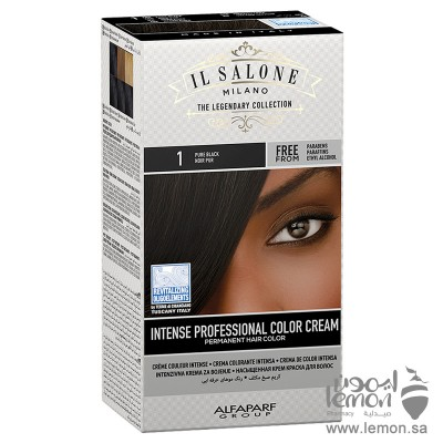 صبغة شعر ال صالون من شركة الفا بارف الايطالية لون اسود رقم 1