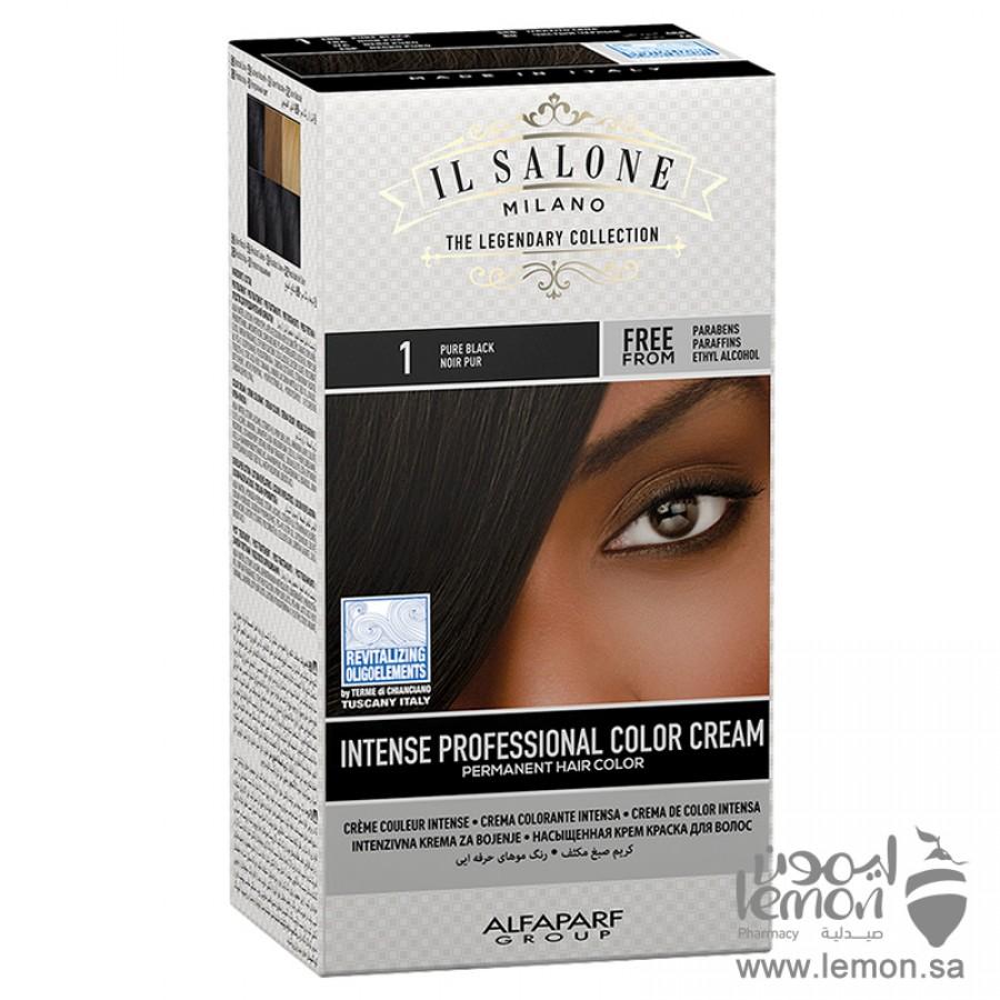 Alfaparf Il Salone Milano The Legendary Collection Hair Color black No.1