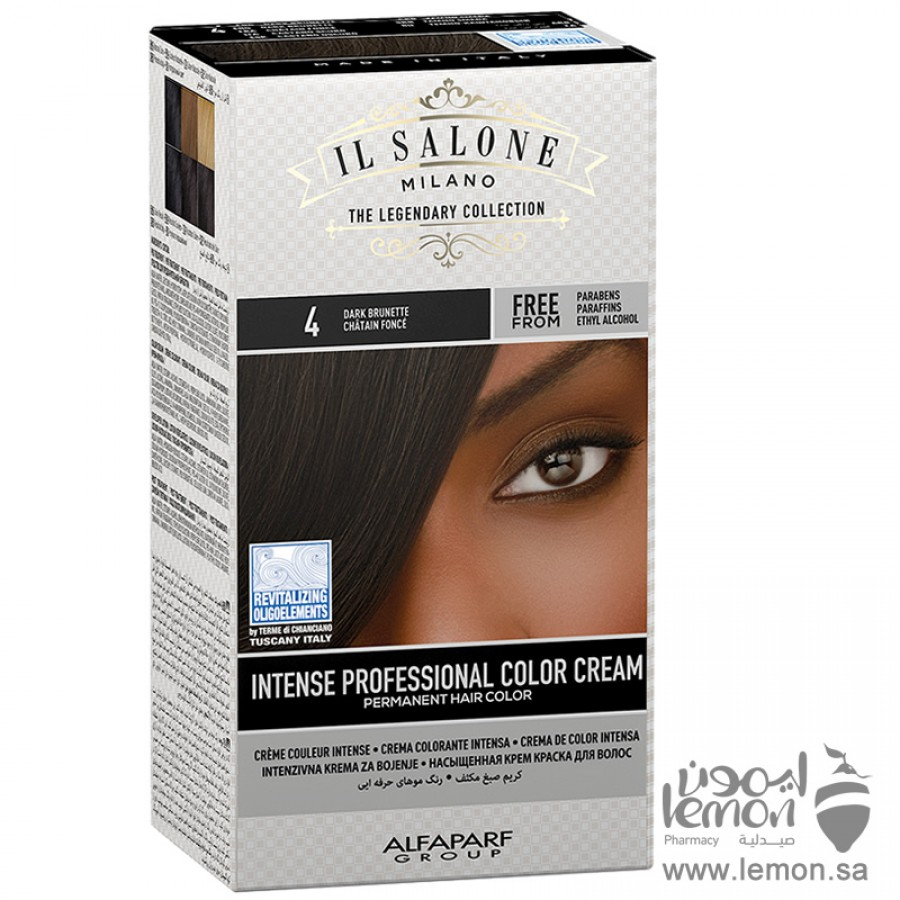 صبغة شعر بني غامق ال صالون من شركة الفا بارف الايطالية لون رقم 4