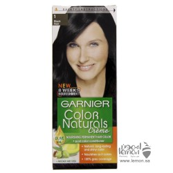 صبغة الشعر غارنيه كولور ناتشرلز كريم لون شعر طبيعي اسود رقم1