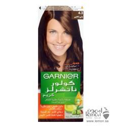 صبغة شعر لون بني ذهبي من غارنييه رقم 4.3 تعطي شعرك إطلالة رائعة