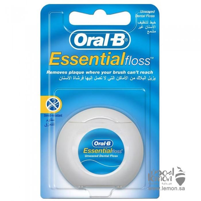 اورال بي اسنشيال فلوس خيط تنظيف الاسنان غير مشمع 50متر