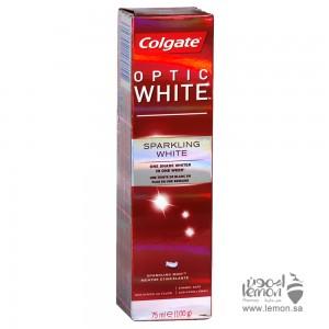 معجون اسنان كولجيت اوبتيك وايت مع جزيئات التلميع الخاص في تبييض الاسنان 75مل