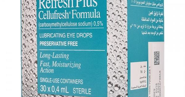 ريفريش بلاس قطرة ترطيب العيون الجافة 0 4 مل 30 حبة