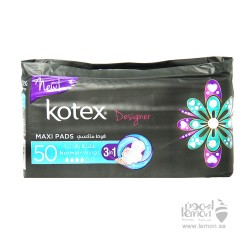 Kotex Designer Maxi Women Pads Normal With Wings 50's