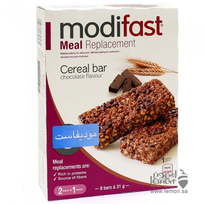 موديفاست لوح بروتين بالحبوب والشوكولاتة 8 ألواح