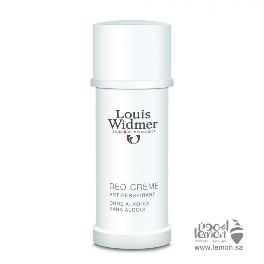 Louis Widmer Deo Cream Fragrance Free 40ml