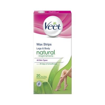 ڤيت شرائح شمعية طبيعي للساقين و الجسم لكل انواع البشرة 20 قطعة