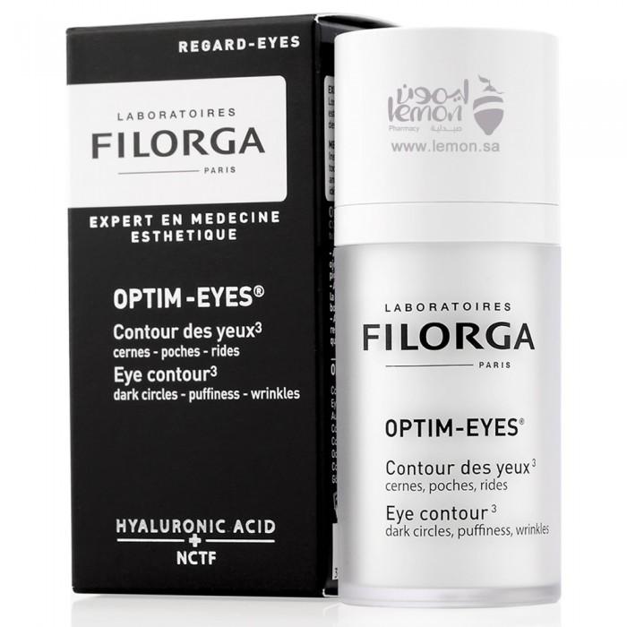 علاج الهالات السوداء و الانتفاخ و تجاعيد حول العين فيلورجا اوبتيم ايز 15مل