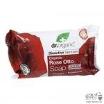 صابونة  دكتور اورجانيك تنظيف البشرة بالورد الدمشقي 100جرام 1 + 1 مجانا