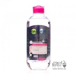غارنييه ماء مايسلر يعمل على تنظيف البشرة و مزيل مكياج 400مل