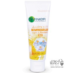 Garnier Light & Radiant 3 In 1 cleanser 100ml