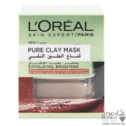 L'Oreal pure clay brightens mask 50 ml