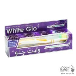 معجون اسنان وايت جلو 2 في 1 مع غسول فم الخاص في تبييض الاسنان 150جرام
