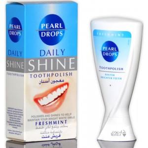 تبيض الاسنان بمعجون اسنان بيرل دروبس يزيل البقع التي تسببها القهوة و الشاي والمشروبات صناعة انكليزية